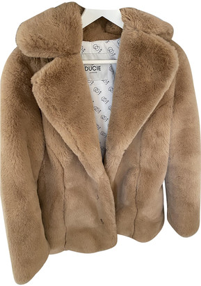 Ducie Beige Faux fur Coats