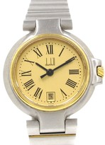 Dunhill Millenium Gold Plated and Stainless Steel Quartz 25mm Womens Watch