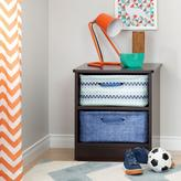 South Shore Libra Laminated Particleboard Nightstand with 2 Baskets in Chocolate