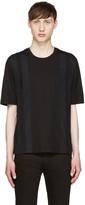 Giuliano Fujiwara Black Striped T-shirt