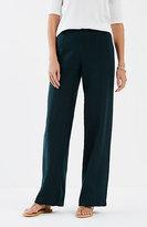 J. Jill Linen Full-Leg Seamed Pants