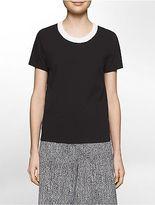 Calvin Klein Womens Platinum Clean Stretch Short-Sleeve T-Shirt