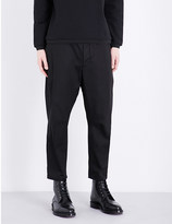 Oamc Mid-rise dropped-crotch waxed cotton trousers