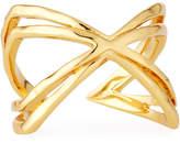 Gorjana Skyler Crisscross Cuff Ring, Size 8