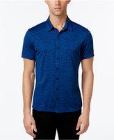 Alfani Men's Big and Tall Ethan Heather Short-Sleeve Shirt, Classic Fit
