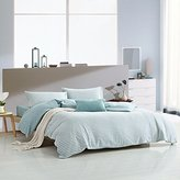 PURE ERA Ultra-Soft Comfy Jersey Knit Cotton Home Bedding Sets Stripe Duvet Cover Sets Mint Grey King Size
