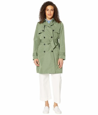 Tommy Hilfiger Women's Adaptive Long Trench with a Velcro Brand Closure Belt