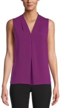 Bar III Seamed V-Neck Blouse, Created for Macy's