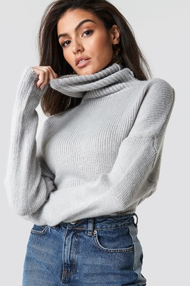 NA-KD Folded Oversize Short Knitted Sweater