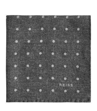 Reiss Taylor - Polka Dot Pocket Square in Grey