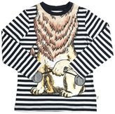 Stella McCartney Lion Print Organic Cotton Jersey T-Shirt