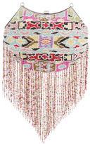 Badgley Mischka Bead & Fringe-Embellished Clutch w/ Tags
