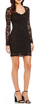 Jump Long Sleeve Lace Sheath Dress