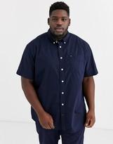 Tommy Hilfiger Big & Tall maxwell short sleeve shirt in navy