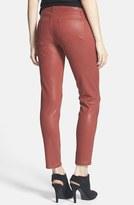 Paige 'Verdugo' Coated Crop Skinny Jeans (Redwood Silk)