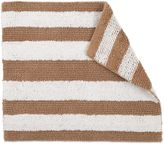 Izod 24-Inch x 17-Inch Reversible Striped Bath Rug in Tan/White