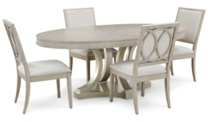 Rachael Ray Cinema Oval Dining Furniture, 5-Pc. Set (Expandable Dining Table & 4 Upholstered Side Chairs)