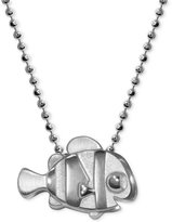 "Alex Woo Sterling Silver ""Finding Dory"" Nemo Pendant Necklace"