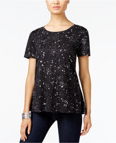 Style&Co. Style & Co. Petite Galaxy Printed Swing Top, Only at Macy's