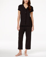 Charter Club Short Sleeve Top and Cropped Pant Pajama Set, Only at Macy's