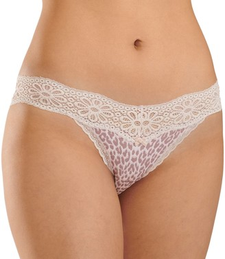 So Cotton & Lace String Bikini Panty