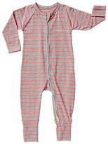 Bonds Baby Ribby Kamikaze Striped Long Sleeve Wondersuit, Coral