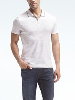 Banana Republic Slim Luxury-Touch Dot Print Polo
