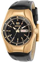 Technomarine Black & Rose Goldtone Silicone Cruise Bracelet Watch
