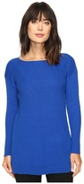 Vince Camuto Long Sleeve Ribbed V Textured Sweater