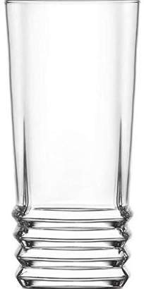 clear Lav LAV 11.25 Ounce Highball Drinking Glasses | Thick and Durable Dishwasher Safe For Water, Soda, Juice, or Cocktails Set of Six Tall Glass Tumblers