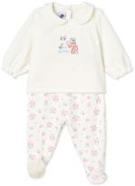 Petit Bateau Baby girls pajamas with feet