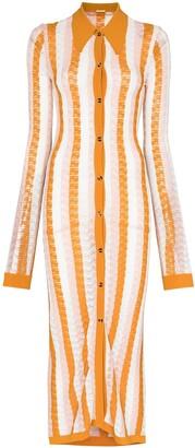 Dodo Bar Or Vertical-Stripe Midi Shirtdress