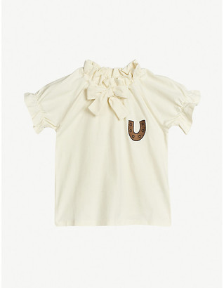 Mini Rodini Horseshoe-embroidered stretch-organic cotton T-shirt 4-11 years