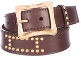 Prada Leather Embellished Belt