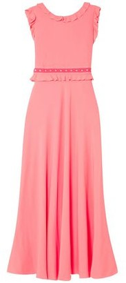 RED Valentino Ruffle-trimmed Studded Crepe De Chine Maxi Dress