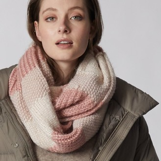 Love & Lore Love And Lore Mixte Texture Infinity Scarf Blush Pink