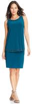 Patra 13536 Rhinestone Hemmed Jersey Dress