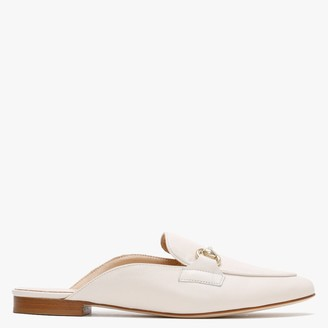 Farringdon White Leather Backless Loafers