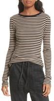 Vince Women's Railroad Stripe Crewneck Sweater