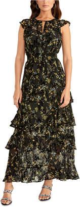 Rachel Roy Issa Printed Ruffled Maxi Dress