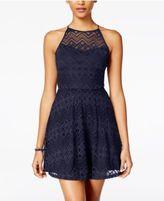 As U Wish Juniors' Lace Fit & Flare Dress