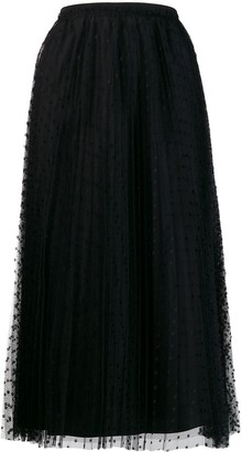 RED Valentino Polka Dot Midi Skirt