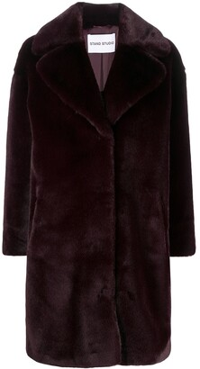 Stand Studio Faux-Fur Single-Breasted Coat