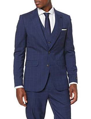 Burton Menswear London Men's Tonal Prince of Wales Slim Suit Jacket, (Size:)