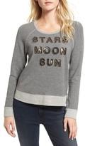 Sundry Women's Stars Moon Sun Crop Sweatshirt