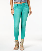 Celebrity Pink Juniors' Frayed-Hem Skinny Ankle Jeans