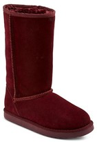 Girls' Tessa Suede Tall Shearling Style Boots Assorted Colors - Cherokee®