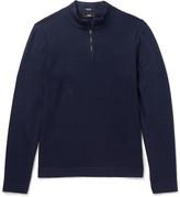 Hugo Boss - Henderson Cotton And Virgin Wool-blend Half-zip Sweater