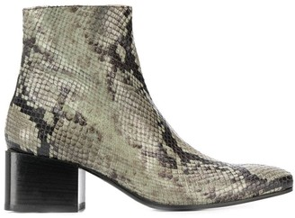 Acne Studios Snake-Print Ankle Boots