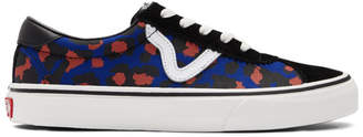 Vans Black and Blue Leopard Sport Sneakers